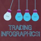 Εννοιολογικό χέρι που γράφει παρουσιάζοντας εμπορικές συναλλαγές Infographics Οπτική αντιπροσώπευση κειμένων επιχειρησιακών φωτογ απεικόνιση αποθεμάτων