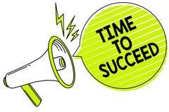 Εννοιολογικό χέρι που γράφει παρουσιάζοντας χρόνο να πετύχει Το επίτευγμα επιτυχίας ευκαιρίας Thriumph κειμένων επιχειρησιακών φω διανυσματική απεικόνιση