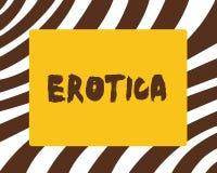 Εννοιολογικό χέρι που γράφει παρουσιάζοντας Erotica Οι εικόνες βιβλίων κειμένων επιχειρησιακών φωτογραφιών παράγουν τη σεξουαλική απεικόνιση αποθεμάτων