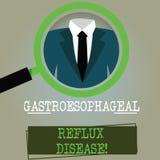 Εννοιολογικό χέρι που γράφει παρουσιάζοντας Gastroesophageal Reflux ασθένεια Επιχειρησιακών φωτογραφιών καίγοντας στήθος αναταραχ ελεύθερη απεικόνιση δικαιώματος