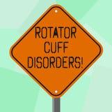 Εννοιολογικό χέρι που γράφει παρουσιάζοντας Rotator αναταραχές μανσετών Οι ιστοί επίδειξης επιχειρησιακών φωτογραφιών στον ώμο πα διανυσματική απεικόνιση