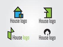 Εννοιολογικά λογότυπα σπιτιών Στοκ φωτογραφία με δικαίωμα ελεύθερης χρήσης