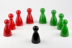 Εννοιολογικά πιόνια παιχνιδιών Στοκ εικόνες με δικαίωμα ελεύθερης χρήσης