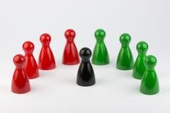 Εννοιολογικά πιόνια παιχνιδιών Στοκ φωτογραφία με δικαίωμα ελεύθερης χρήσης