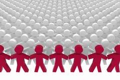 Εννοιολογική έννοια ηγεσίας Στοκ Εικόνες