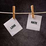 Εννοιολογική εικόνα αγάπης ή μίσους Στοκ Φωτογραφία
