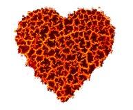 Εννοιολογική εικόνα του καψίματος της καρδιάς Στοκ φωτογραφία με δικαίωμα ελεύθερης χρήσης