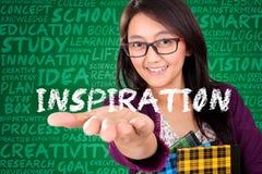 Εννοιολογική εκπαίδευση έμπνευσης γυναικών Στοκ Εικόνες