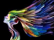 Εννοιολογική ζωγραφική μυαλού Στοκ φωτογραφία με δικαίωμα ελεύθερης χρήσης