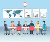 Εννοιολογική διανυσματική απεικόνιση επιχειρησιακής συνεδρίασης Στοκ εικόνα με δικαίωμα ελεύθερης χρήσης