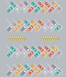 Εννοιολογική διανυσματική απεικόνιση ζώνης χώρων στάθμευσης απεικόνιση αποθεμάτων