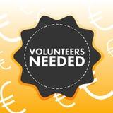 Εννοιολογική διανυσματική εικόνα του εθελοντή ανάγνωσης που απαιτείται Στοκ Εικόνες