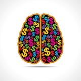 Εννοιολογική ιδέα: η εικόνα σκιαγραφιών του εγκεφάλου με Στοκ εικόνα με δικαίωμα ελεύθερης χρήσης