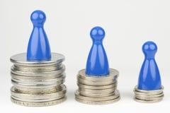 Εννοιολογική οικονομική θέση Στοκ εικόνα με δικαίωμα ελεύθερης χρήσης