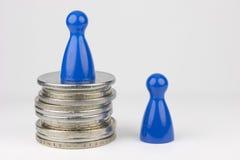 Εννοιολογική οικονομική θέση Στοκ Εικόνες
