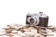 Εννοιολογική φωτογραφία για τη φωτογραφία microstock, που κάνει τα χρήματα Στοκ φωτογραφία με δικαίωμα ελεύθερης χρήσης