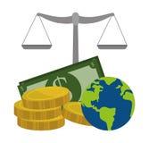 εννοιολογικός κρίσης κερδοσκοπικός κόσμος εικόνας οικονομίας σφαιρικός Στοκ εικόνες με δικαίωμα ελεύθερης χρήσης
