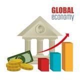 εννοιολογικός κρίσης κερδοσκοπικός κόσμος εικόνας οικονομίας σφαιρικός Στοκ Εικόνα