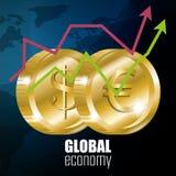 εννοιολογικός κρίσης κερδοσκοπικός κόσμος εικόνας οικονομίας σφαιρικός Στοκ Εικόνες