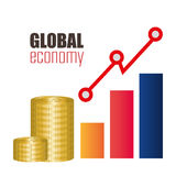 εννοιολογικός κρίσης κερδοσκοπικός κόσμος εικόνας οικονομίας σφαιρικός Στοκ φωτογραφία με δικαίωμα ελεύθερης χρήσης