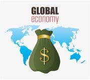 εννοιολογικός κρίσης κερδοσκοπικός κόσμος εικόνας οικονομίας σφαιρικός Στοκ Φωτογραφίες