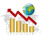 εννοιολογικός κρίσης κερδοσκοπικός κόσμος εικόνας οικονομίας σφαιρικός Στοκ εικόνα με δικαίωμα ελεύθερης χρήσης
