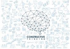 Εννοιολογικός Polygonal εγκέφαλος αφηρημένη απεικόνιση Στοκ Εικόνα