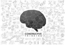 Εννοιολογικός Polygonal εγκέφαλος αφηρημένη απεικόνιση Στοκ εικόνες με δικαίωμα ελεύθερης χρήσης