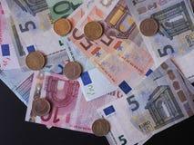 εννοιολογικό ευρώ πενήντα πέντε δέκα νομίσματος τραπεζογραμματίων Στοκ εικόνα με δικαίωμα ελεύθερης χρήσης