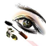 Εννοιολογικό υπόβαθρο μόδας με το όμορφο θηλυκό μάτι Στοκ Εικόνες