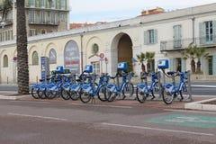 Ενοίκιο ποδηλάτων της Νίκαιας Στοκ φωτογραφία με δικαίωμα ελεύθερης χρήσης