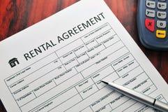 ενοίκιο συμφωνίας Στοκ Εικόνες