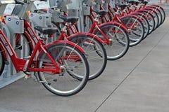 Ενοικιαζόμενα ποδήλατα Στοκ Εικόνες
