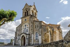 Ενοριακή εκκλησία του SAN Vicente Martir και San Sebastian, Frias Burgos στοκ φωτογραφία με δικαίωμα ελεύθερης χρήσης