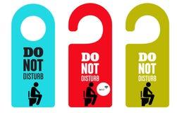 ενοχλήστε όχι Κρεμάστρα πορτών πόρτα WC wifi ελεύθερη απεικόνιση δικαιώματος