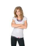 ενοχλημένο κορίτσι Στοκ Φωτογραφίες