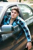 Ενοχλημένος οδηγός αυτοκινήτων Στοκ φωτογραφία με δικαίωμα ελεύθερης χρήσης