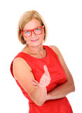 Εντάξει γυναίκα Στοκ εικόνα με δικαίωμα ελεύθερης χρήσης