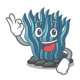 Εντάξει μπλε φύκι που απομονώνεται στο χαρακτήρα απεικόνιση αποθεμάτων