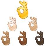 Εντάξει emoji σημαδιών χεριών Στοκ φωτογραφία με δικαίωμα ελεύθερης χρήσης
