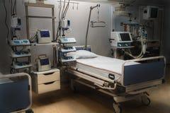 Εντατική παρακολούθηση εντατικής νοσοκομείων σύγχρονος εξοπλισμός, έννοια της υγιούς ιατρικής, επεξεργασία, επεξεργασία ασθενών,  στοκ φωτογραφία