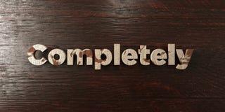 Εντελώς - βρώμικος ξύλινος τίτλος στο σφένδαμνο - τρισδιάστατο δικαίωμα ελεύθερη εικόνα αποθεμάτων απεικόνιση αποθεμάτων