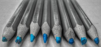 Εντυπωσιακά μπλε μολύβια Στοκ εικόνες με δικαίωμα ελεύθερης χρήσης