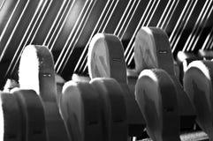 Εντυπωσιακές σειρές σφυριών πιάνων Στοκ φωτογραφία με δικαίωμα ελεύθερης χρήσης