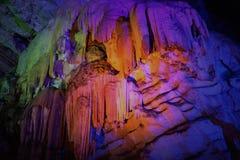 Εντυπωσιακές σπηλιές Borra πετρών ασβέστη στο AP Ινδία Στοκ Φωτογραφίες