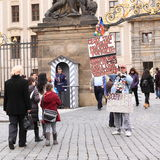 Εντυπωσιακός διαμαρτυρόμενος Στοκ φωτογραφία με δικαίωμα ελεύθερης χρήσης