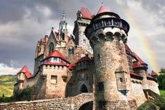 εντυπωσιακό κάστρο Kreuzenstein australites στοκ εικόνες με δικαίωμα ελεύθερης χρήσης