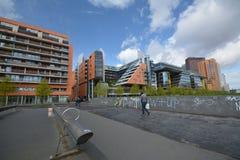 Εντυπώσεις από την πλατεία του Πότσνταμ, Potsdamer Platz στο Βερολίνο από τις 11 Απριλίου 2017, Γερμανία Στοκ φωτογραφία με δικαίωμα ελεύθερης χρήσης