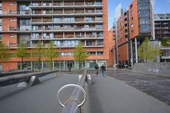 Εντυπώσεις από την πλατεία του Πότσνταμ, Potsdamer Platz στο Βερολίνο από τις 11 Απριλίου 2017, Γερμανία Στοκ φωτογραφίες με δικαίωμα ελεύθερης χρήσης
