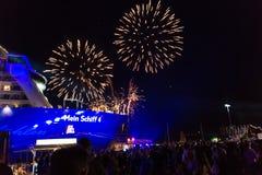 Εντυπώσεις από το βάπτισμα ενός σκάφους Στοκ φωτογραφίες με δικαίωμα ελεύθερης χρήσης